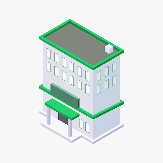 等尺性建築ベクター設計 Premiumベクター