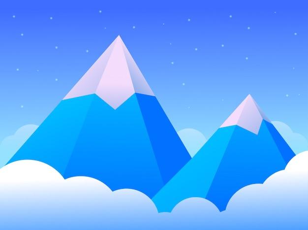 美しい風景氷山 Premiumベクター