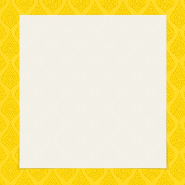 タイの伝統芸術の正方形のフレームゴールドカラーの背景 Premiumベクター