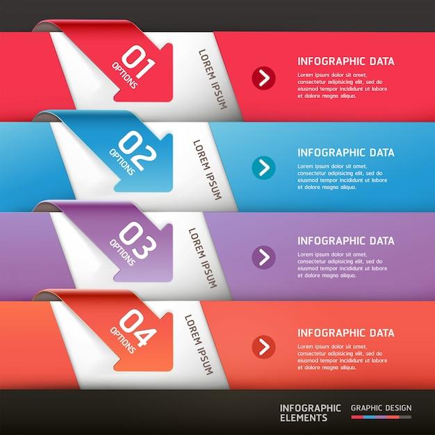 Современная стрелка инфографика шаблон. Premium векторы