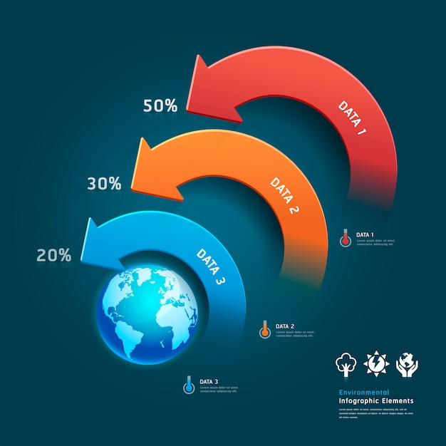 Защита окружающей среды инфографики Premium векторы