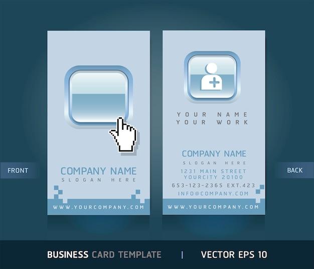 Вертикальный шаблон визитной карточки Premium векторы