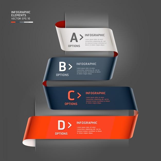 Современный стиль ленты параметров шага можно использовать для разметки рабочего процесса, схемы, параметров чисел, параметров шага, веб-дизайна, шаблона инфографики. Premium векторы