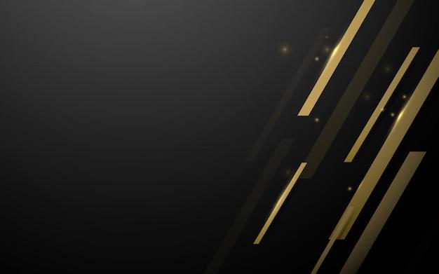 金の幾何学的な抽象的な正方形の豪華なベクトルの背景。 Premiumベクター