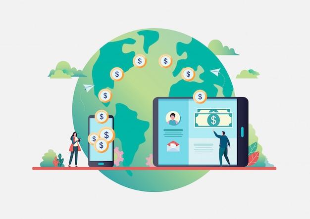 オンライン送金 Premiumベクター