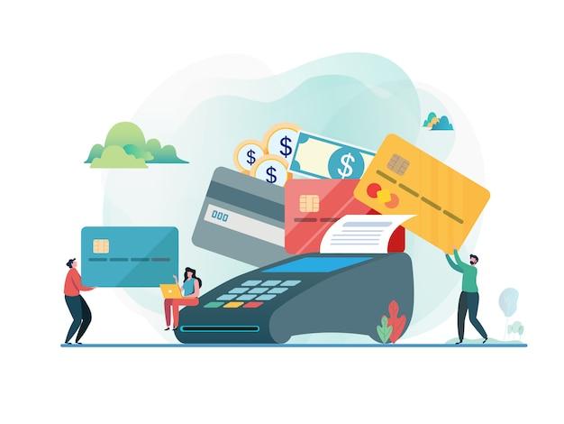 クレジットカードで支払います。 Premiumベクター