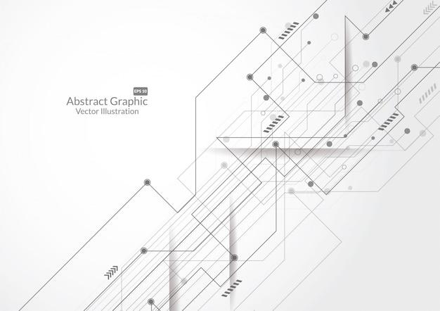 Абстрактный фон с технологией печатной платы текстуры Premium векторы