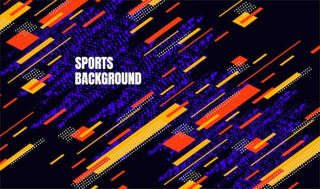 スポーツの背景のための抽象的なカラフルなアート。動的粒子 Premiumベクター