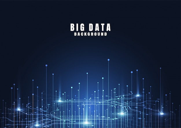 Абстрактный фон технологии с большими данными. интернет-соединение Premium векторы