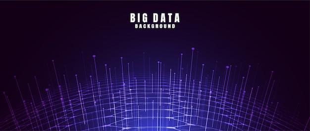 ビッグデータと抽象的な技術の背景 Premiumベクター