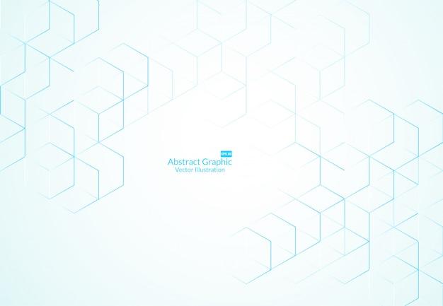 抽象的なボックスの背景。現代の技術 Premiumベクター