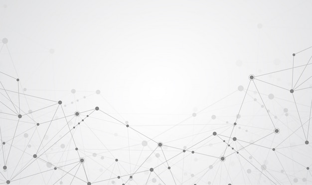 インターネット接続抽象科学 Premiumベクター