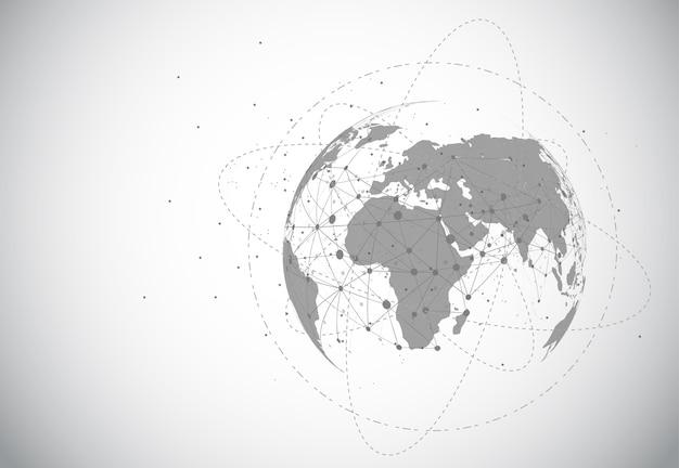 グローバルネットワーク接続 Premiumベクター