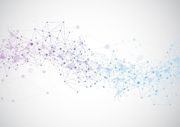 抽象的な技術未来的なネットワーク Premiumベクター