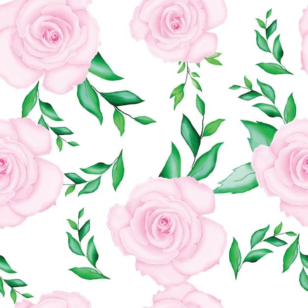美しい水彩画の花のウェディングカードテンプレート Premiumベクター
