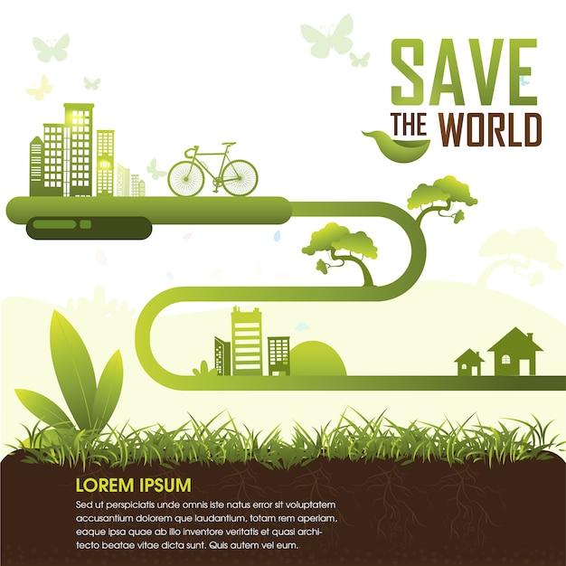 世界を救う Premiumベクター