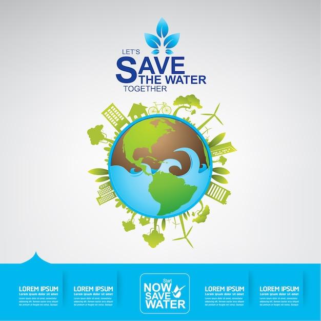 水ベクトルを保存する Premiumベクター