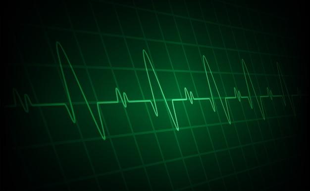 Сердце бьет кардиограмму фон Premium векторы