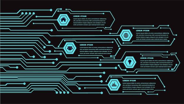 サイバー回線技術のインターネット Premiumベクター