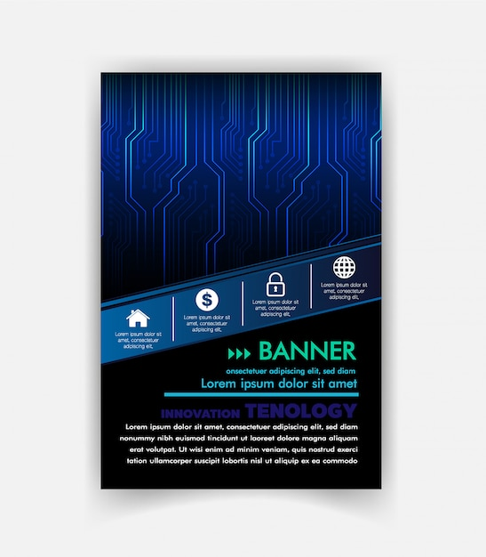 Векторный шаблон шаблона брошюры Premium векторы