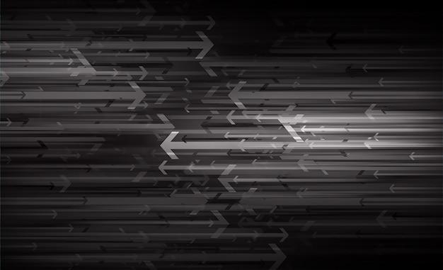 Черная стрелка светло-абстрактный фон технологии Premium векторы