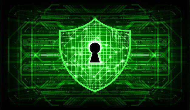 デジタル背景、サイバーセキュリティに南京錠を閉鎖 Premiumベクター