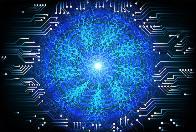 青い目サイバー回路将来の技術コンセプトの背景 Premiumベクター