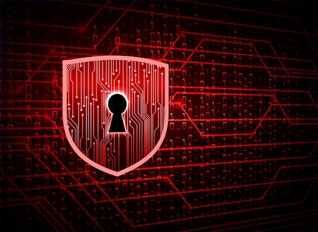 Закрытый замок на цифровом фоне, кибербезопасность Premium векторы