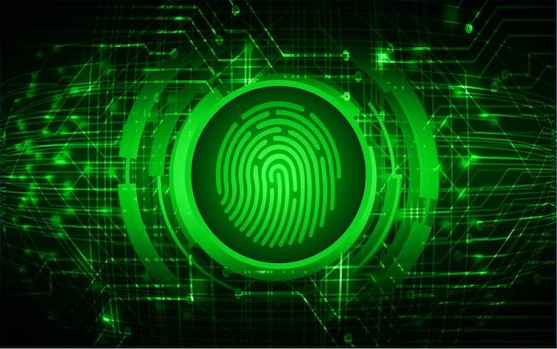 指紋ネットワークサイバーセキュリティの背景。 Premiumベクター