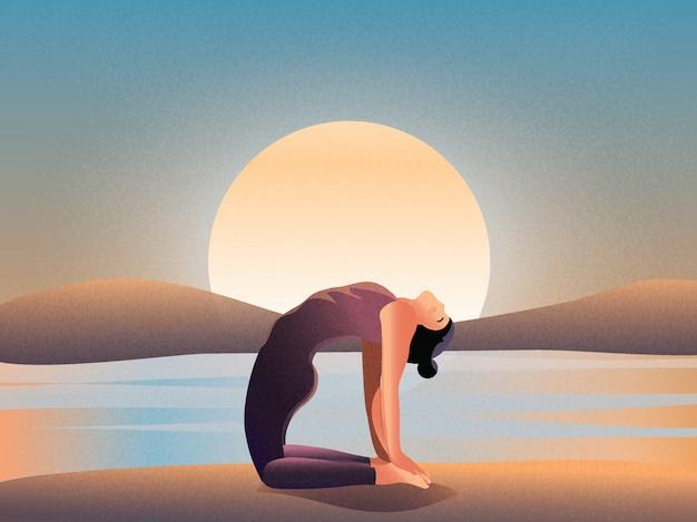 Утренняя медитация от природы. Premium векторы