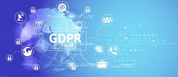 Общая концепция регулирования защиты данных. Premium векторы