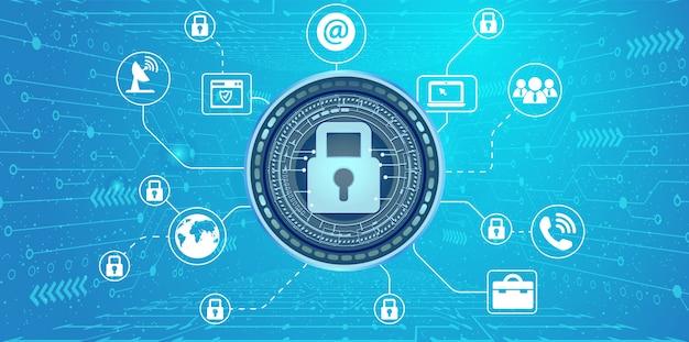Интернет-безопасность Premium векторы