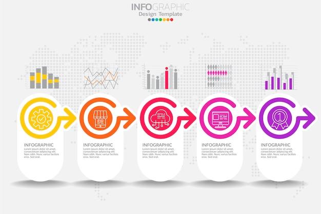 Инфографические элементы для содержания, диаграммы, блок-схемы, шагов, частей, графика, рабочего процесса, диаграммы. Premium векторы