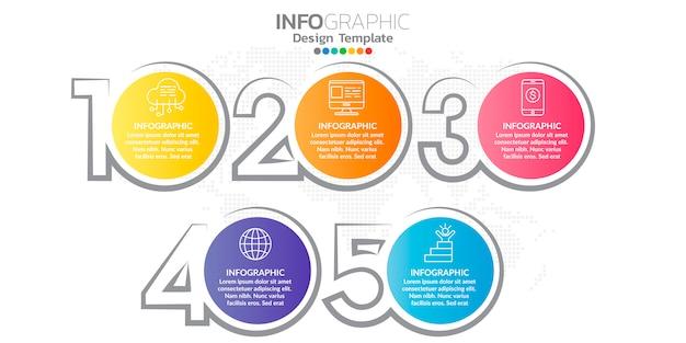 Цифровой онлайн-маркетинг инфографики характер для бизнес-контента. Premium векторы