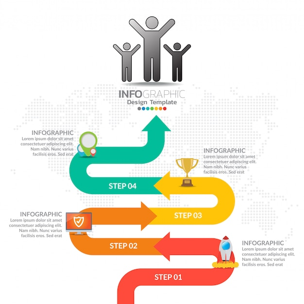 Бизнес график рабочего процесса инфографика Premium векторы