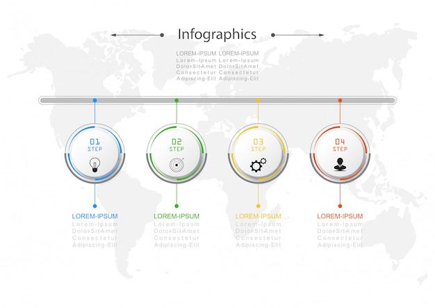 インフォグラフィックデザインベクトルビジネスコンセプト Premiumベクター
