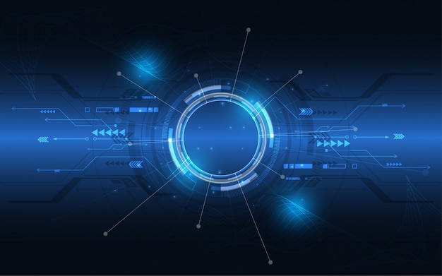 抽象的な技術の背景ハイテク通信コンセプトの革新 Premiumベクター