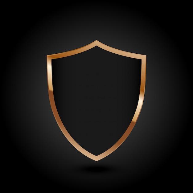 保護されたガードシールドセキュリティコンセプトセキュリティサイバーデジタル抽象的な技術 Premiumベクター