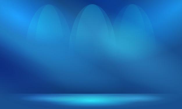 照明とコピースペースと抽象的な青い背景 Premiumベクター