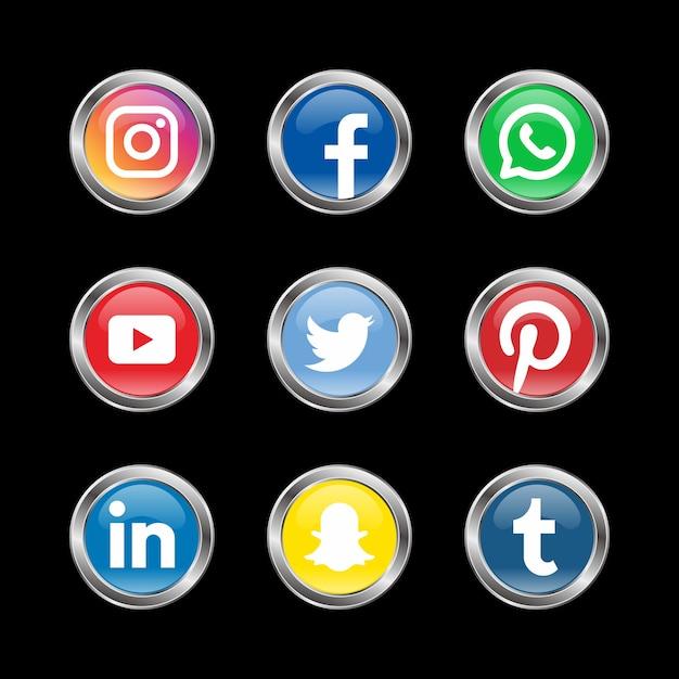 Дизайн логотипа социальных сетей Premium векторы