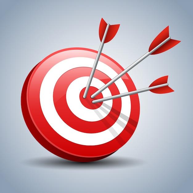 Стрелки, поражающие цель Premium векторы