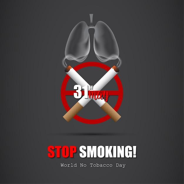 世界のたばこデー Premiumベクター