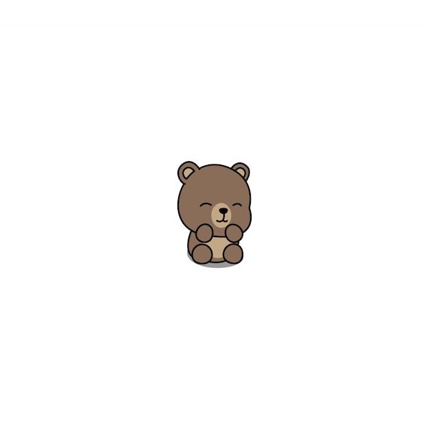 かわいい赤ちゃんクマ漫画 Premiumベクター