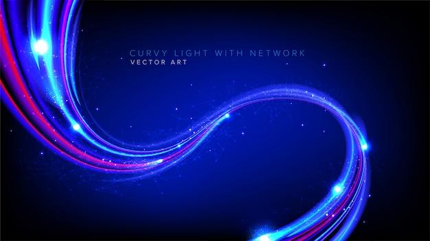 ベクトルで抽象的な曲線光速 Premiumベクター
