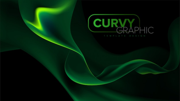 曲線ストライプテンプレートデザイン Premiumベクター