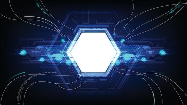 Аннотация технология данных подключить фон Premium векторы