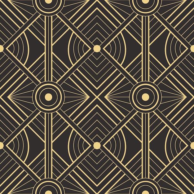 Абстрактное искусство деко бесшовные современные плитки шаблон Premium векторы