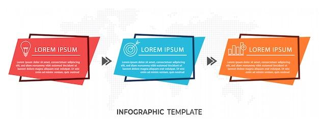 現代のタイムラインのインフォグラフィック Premiumベクター
