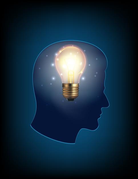 Голова с лампочкой картинки, интересные выходом