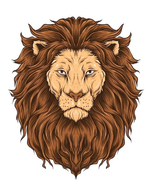 голова льва картинка для печати надо